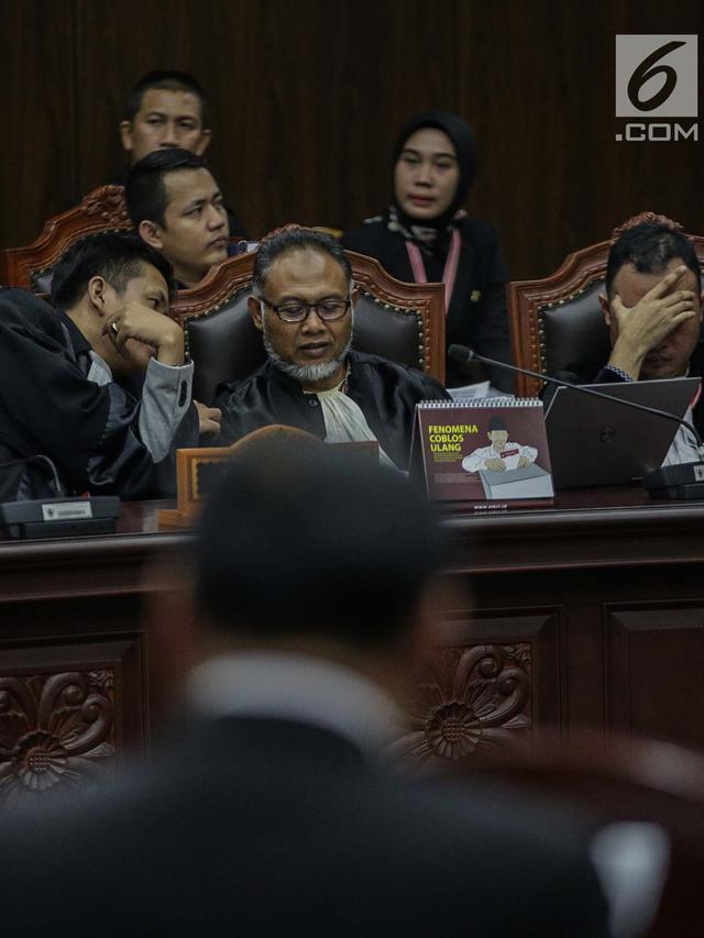 Ketua Bawaslu Tanggapi Gugatan Prabowo-Sandi di Sidang Sengketa Pilpres