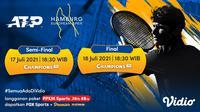 Jadwal dan Link Live Streaming ATP 500 Hamburg European Open di Vidio, 17-18 Juli 2021. (Sumber : dok. vidio.com)