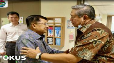 Dalam pertemuan tersebut, Jusuf Kalla mendengarkan penjelasan dari SBY seputar perkembangan kondisi kesehatan ibu Ani Yudhoyono.