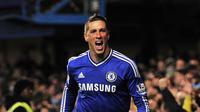 2. Fernando Torres (2010-2011) - Dari Liverpool ke Chelsea dengan nilai transfer: 52,6 juta poundsterling. Nilai saat ini menurut data inflasi: 144,9 juta poundsterling. (AFP/Glyn Kirk)