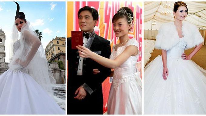 Gaun Gaun Pengantin Terpanjang Di Dunia Fashion Fimela Com