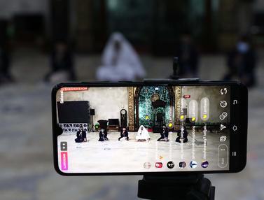 FOTO: Masjid Agung Sunda Kelapa Siarkan Malam Takbir Secara Virtual