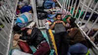 Pengungsi Venezuela di kota Medellin, Kolombia (AFP/Joaquin Sarmiento)