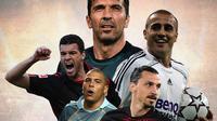 Ilustrasi Pemain - Gianluigi Buffon,  Fabio Cannavaro, Michael Ballack, Zlatan Ibrahimovic, Ronaldo Nazario da Lima (Bola.com/Adreanus Titus)