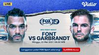 Streaming UFC Fight Night di FOX Sports Eksklusif Melalui Vidio. (Sumber : dok. vidio.com)