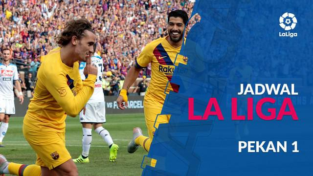 Berita video jadwal La Liga 2019-2020 pekan ke-1. Laga Athletic Bilbao vs Barcelona membuka gelaran La Liga musim 2019-2020.
