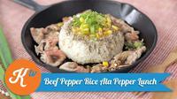 Sajikan beef paper rice untuk santapan lezat yang kaya protein dan nutrisi. (Kokiku Tv)