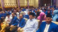 Prabowo Subianto bersama Ketua Umum PAN Zulkifli Hasan dan Amien Rais. (Liputan6.com/Delvira Hutabarat)