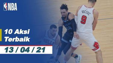 Berita Video 10 Aksi Terbaik NBA 13 April 2021, Slam Dunk Fantastis Ja Morant