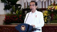 Presiden Joko Widodo (Jokowi) memberikan pengarahan secara virtual kepada seluruh kepala daerah se-Indonesia di Istana Negara Jakarta, Rabu (28/4/2021). (Biro Pers Sekretariat Presiden)