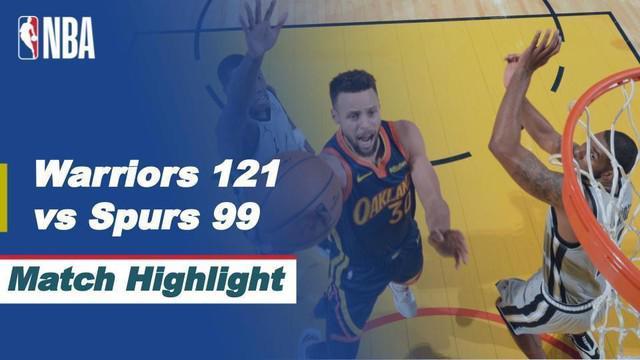 Berita video highlights NBA 2020/2021 untuk pertandingan Golden State Warriors melawan San Antonio Spurs yang berakhir dengan skor 121-99, Kamis (21/1/2021) siang hari WIB.