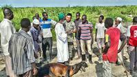 Anggota Polri berkurban untuk pengungsi di Sudan Selatan. (Istimewa)