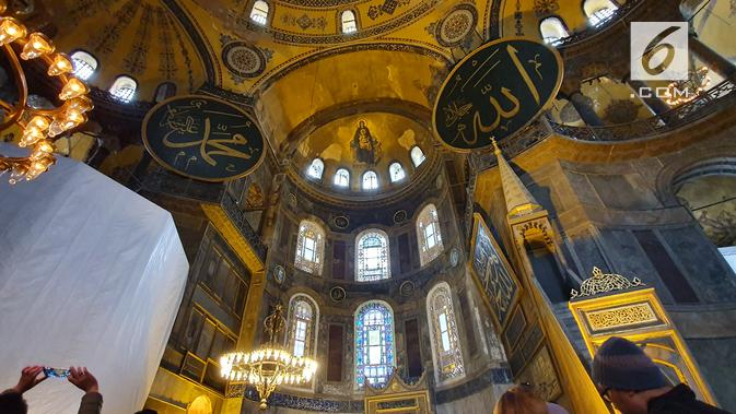 Mengabadikan Eksotisme Hagia Sophia dengan Kamera Samsung Galaxy 10 Plus. Liputan6.com/Nila Chrisna Yulika