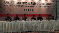 Analyst Meeting dan Press Conference  PT Bank Pembangunan Daerah Jawa Timur Tbk (Bank Jatim)  di Jakarta, Kamis (19/7/2018). (Wilfridus Setu Embu/Merdeka.com)