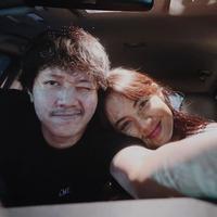 """Iya, kenalnya dari Instagram,"" ucap Aurelie Moeremans saat ditemui di Jalan Kapten Pierre Tendean, Jakarta Selatan, Selasa (7/7/2020). (Instagram/aurelie)"