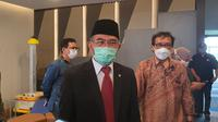 Menko PMK Pastikan Keamanan Dana Calon Jemaah Haji 2021 yang Gagal Berangkat 2021 Ini. (Liputan6.com/Dicky Agung Prihanto)