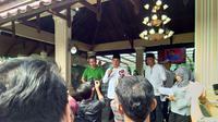 Calon Gubernur Sumatera Utara Edy Rahmayadi berpidato di hadapan pendukungnya (Liputan6.com/Reza Efendi)