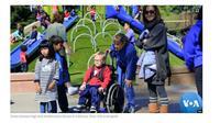 Taman Bermain Inklusif Anak-Anak Disabilitas di California, Amerika Serikat. (VOA Indonesia)