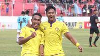 Persik Kediri berhasil mempertahankan tren positif di laga tandang dengan menahan imbang Sulut United FC, Kamis (8/8/2019). (Bola.com/Gatot Susetyo)