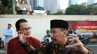 Ketua Cyber Indonesia Laporkan Rocky Gerung ke Polda Metro. (Merdeka.com/Ronald)