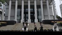 Suasana penjagaan super ketat yang dilakukan pihak kepolisian jelang sidang putusan Pilpres oleh Mahkamah Konstitusi, Jakarta, Rabu (20/8/2014) (Liputan6.com/Johan Tallo)