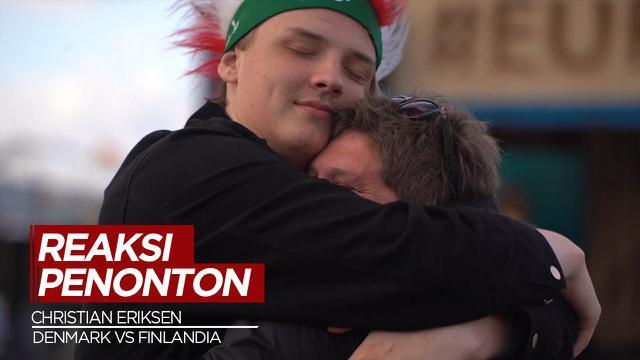 Cover Reaksi Penonton Saat Christian Eriksen Kolaps di Laga Denmark Vs Finlandia