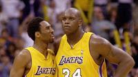 Shaquille O'neill & Kobe Bryan_(AFP/Vince Bucci)