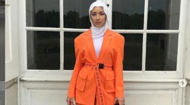 Tanpil Simpel dengan Padu Padan Hijab Warna Cerah