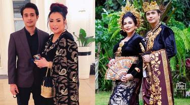 6 Gaya Pasangan Artis Jennifer Ipel dan Ajun Perwira Pakai Baju Adat Bali, Romantis