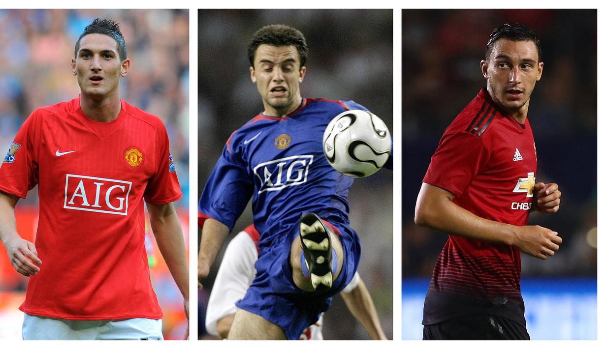 Tidak banyak pemain asal Italia yang pernah bermain untuk Manchester United bahkan di Inggris sekali pun. Mereka lebih memilih berkiprah di liga domestik yang dinilai tak jauh beda levelnya. Berikut 5 pemain asal Italia yang pernah bermain untuk Red Devils. (Kolase Foto AFP)