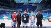 Dua perenang Indonesia di Olimpiade Tokyo, AflahFadlan Prawira dan Azzahra Permatahani. (NOC Indonesia).
