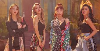 Mamamoo akhirnya comeback dengan merilis mini album dengan lagu andalan bertajuk Egotistic. Mini album Mamamoo yang ketujuh ini berjudul Red Moon. (Foto: soompi.com)