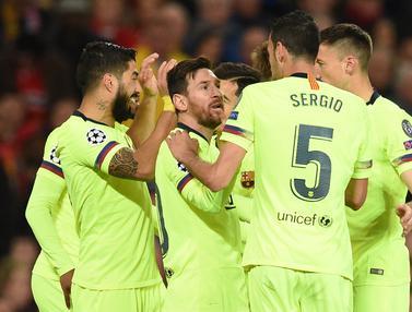 Laga Ketat Warnai Kemenangan Barcelona Atas Manchester United