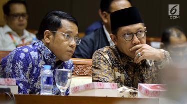 Komisi III DPR Bahas Penyesuaian Anggaran Bersama Menag dan Mensos