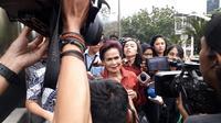 Mantan Deputi Senior Gubernur Bank Indonesia (BI) Miranda Goeltom diperiksa KPK