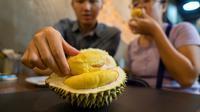 Durian. (NICHOLAS YEO / AFP/Asnida Riani)