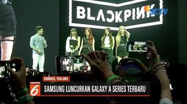 Samsung luncurkan smartphone series Galaxy A di Bangkok, Thailand, dengan menampilkan Blackpink.