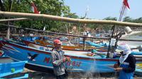 Nelayan Ranca Buaya, Garut lebih memilih menepi akibat cuaca ekstrem (Liputan6.com/Jayadi Supriadin)