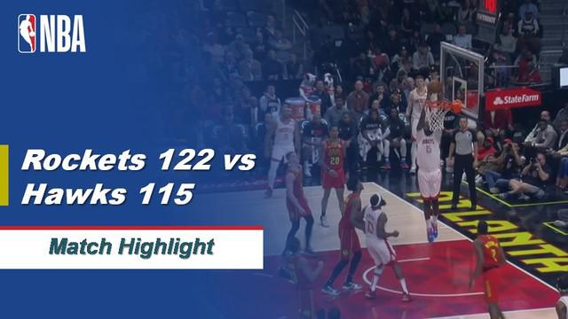 Berita Video Highlights NBA 2019-2020, Houston Rockets Vs Atlanta Hawk 122-115