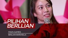 Berita video main games bersama atlet voli Indonesia, Berllian Marsheilla, di KLY Lounge, di mana wanita cantik ini diberi pilihan dua atlet tunggal bulu tangkis, Jonatan Christie atau Anthony Ginting.