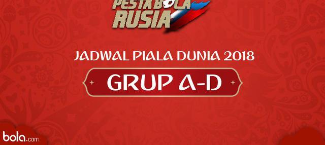 Berikut jadwal Piala Dunia Rusia 2018 grup A-D matchday ke-2.