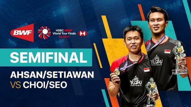 Berita video full match kemenangan Mohammad Ahsan / Hendra Setiawan pada semifinal BWF World Tour Finals yang digelar Sabtu (30/1/2021).
