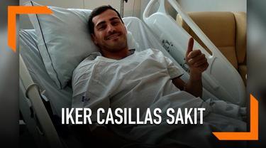 Kiper Porto, Iker Casillas mengalami serangan jantung saat berlatih. Ucapan dan doa mengalir dari para sahabat.