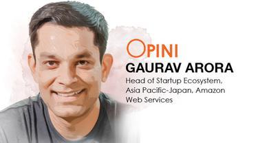 Gaurav Arora, Head of Startup Ecosystem, Asia Pacific-Japan, Amazon Web Services. Liputan6.com/Triyasni