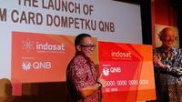 Foto: Penandatanganan Indosat Dompetku dengan QNB (Andina Librianty/ Liputan6.com)