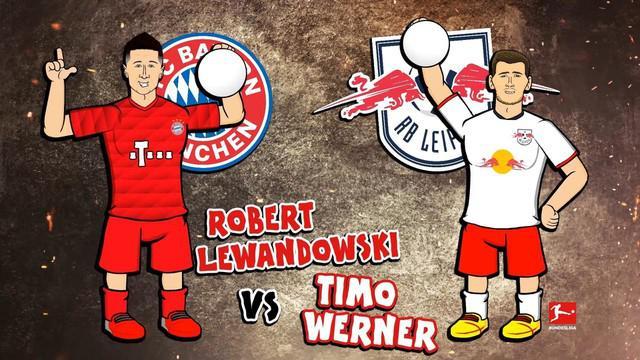 Berita video Rap Battles 2 striker berbahaya yaitu Robert Lewandowski vs Timo Werner. Keduanya akan berjumpa di laga bigmatch akhir pekan nanti, Bayern Munchen vs RB Leipzig pada Minggu 10 Februari 2020.