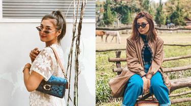 7 Gaya Camelia Putri Tampil Keren dengan Kacamata Ini Stylish Banget