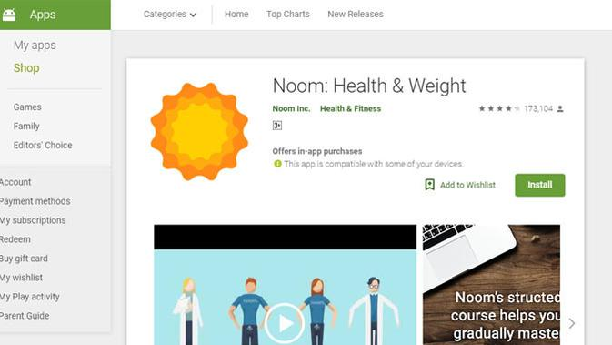 Noom Coach: Weight Loss. (Doc: Google Play)