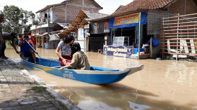 Banjir di Sidareja Kabupaten Cilacap, Jawa Tengah. (Foto: Liputan6.com/Muhamad Ridlo)