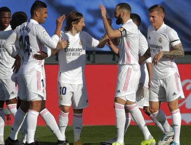 Foto Liga Spanyol: Bungkam Valencia, Real Madrid Kembali Gusur Barcelona di Klasemen La Liga